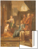 Christ in the House of Martha and Mary Wood Print by Jean-Baptiste Jouvenet