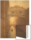 Venice Ambiance Wood Print by Raymond Knaub