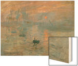 Impression: Sunrise, 1872 Wood Print by Monet Claude