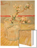 Blossoming Almond Branch in a Glass, c.1888 Wood Print by Vincent van Gogh