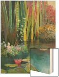 Lilies Adorning the Pond Wood Print by Kent Wallis
