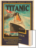 Titanic White Star Line Travel Poster 1 Wood Print by Jack Dow