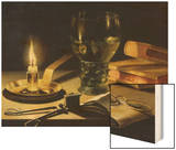 Still-Life with Burning Candle, 1627 Poster by Pieter Claesz