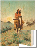 The Outlier 1909 Wood Print by Frederic Sackrider Remington