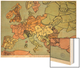 Satirical Map - The Insane Asylum Prints by Louis Raemaekers