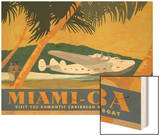 Miami to Cuba Wood Print by David Grandin