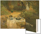 Le Dejeuner (Luncheon in the Artist's Garden at Giverny), circa 1873-74 Wood Print by Monet Claude