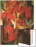 The Fox, 1913 Wood Print by Franz Marc