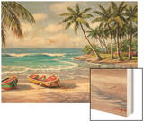 Tropical Bay Wood Print by Sung Kim