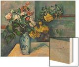 Still Life: Flowers in a Vase Wood Print by Paul Cézanne