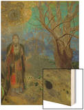 The Buddha, 1906-1907 Wood Print by Redon Odilon