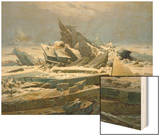 The Polar Sea, 1824 Wood Print by Caspar David Friedrich