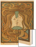 The Kiss, 1898 Wood Print by Peter Behrens