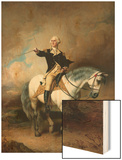 Portrait of George Washington Taking the Salute at Trenton Posters by John Faed