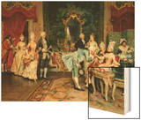 The Reception Wood Print by Arturo Ricci