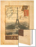 Destination Paris Wood Print by Tina Chaden