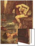 The Siren Posters by John William Waterhouse