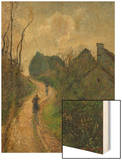 Ascending Path in Osny, 1883 Wood Print by Pissarro Camille