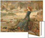 Miranda, 1916 Wood Print by John William Waterhouse