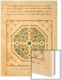 Modèle de parterre de jardin octogonal Wood Print