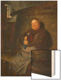 Brother Master Brewer in the Beer Cellar, 1902 Wood Print by Eduard Grutzner