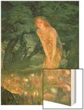 Midsummer Eve Wood Print by Edward Robert Hughes
