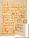 Trois études de concert. Piano. S 144 : page 4 Wood Print by Franz Liszt