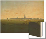 Wiesen Bei Greifswald, um 1822 Wood Print by Caspar David Friedrich