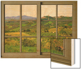 View from the Window at Castiglione D'Orcia Wood Print by Anna Siena
