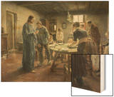 Komm Herr Jesu, Sei Unser Gast, 1885 Wood Print by Fritz von Uhde