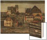 Suburb I, 1914 Wood Print by Egon Schiele