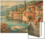 Villagio Dal Lago Wood Print by Sung Kim