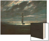 Seascape in Moonlight, 1830/35 Wood Print by Caspar David Friedrich