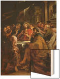 Last Supper, 1630-1632, Commissioned by Catherine Lescuyer Wood Print by Peter Paul Rubens
