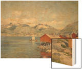 Maisons de pêcheurs à Svolvoer, Lofoden (Norvège) Wood Print by Johannes Martin Grimelund