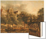 Le Herengracht à Amsterdam Wood Print by Jan Van Der Heyden