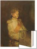 Fuerst Otto Von Bismarck in the Uniform of the Halberstaedter Cuirassiers Wood Print by Franz Seraph von Lenbach
