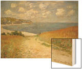 Path in the Wheat at Pourville, 1882 Wood Print by Monet Claude