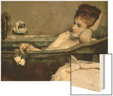 The Bath, also Said the Woman in the Bath or Shower Wood Print by Alfred Emile Leopold Stevens