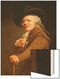 Portrait of the Artist in the Guise of a Mockingbird Wood Print by Joseph Ducreux