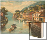 Village on the Water Wood Print by Sung Kim