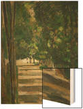 The Avenue (Park of Chantilly), circa 1879 Wood Print by Paul Cézanne
