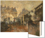 Le Pont De L'Europe, Gare Saint-Lazare, 1877 Wood Print by Monet Claude