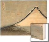 Le Fuji bleu Wood Print by Katsushika Hokusai