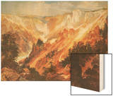 The Grand Canyon of the Yellowstone Wood Print by Thomas Moran