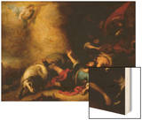 Conversion of Saint Paul Wood Print by Bartolome Esteban Murillo