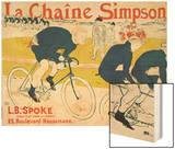 Poster for La Chaine Simpson, Bicycle Chains, 1896 Wood Print by Henri de Toulouse-Lautrec