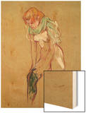 Woman Pulling up Her Stocking, 1894 Wood Print by Henri de Toulouse-Lautrec