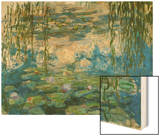 Waterlilies, 1916-1919 Wood Print by Monet Claude