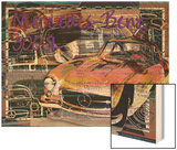 Mercedes Benz 300 Sl Wood Print by Victoria Hues